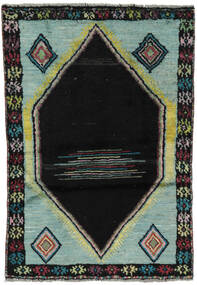 Moroccan Berber - Afghanistan Matta 88X125 Äkta Modern Handknuten Svart/Mörkgrön (Ull, Afghanistan)