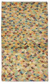 Moroccan Berber - Afghanistan Matta 83X146 Äkta Modern Handknuten Ljusgrön/Mörkbeige (Ull, Afghanistan)