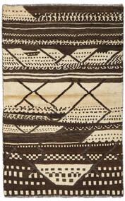 Moroccan Berber - Afghanistan Matta 86X136 Äkta Modern Handknuten Mörkbrun/Gul (Ull, Afghanistan)