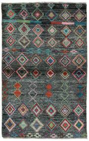 Moroccan Berber - Afghanistan Matta 91X146 Äkta Modern Handknuten Svart/Mörkgrön (Ull, Afghanistan)