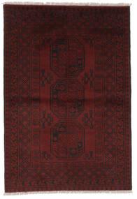 Afghan Matta 99X145 Äkta Orientalisk Handknuten Svart (Ull, Afghanistan)