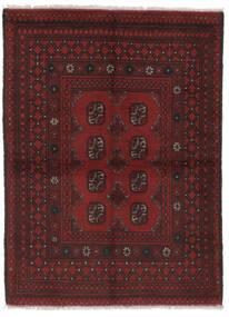 Afghan Matta 100X138 Äkta Orientalisk Handknuten Svart (Ull, Afghanistan)