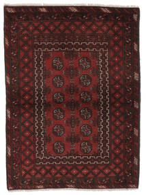 Afghan Matta 103X140 Äkta Orientalisk Handknuten Svart/Vit/Cremefärgad (Ull, Afghanistan)