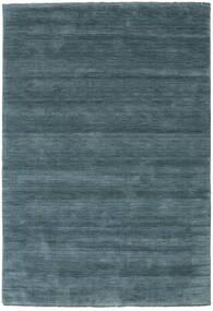 Handloom Fringes - Sekundär Matta 160X230 Modern Svart/Mörkblå (Ull, Indien)