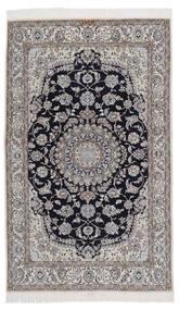 Nain 9La Matta 131X209 Äkta Orientalisk Handknuten Svart/Mörkgrå/Ljusgrå (Ull/Silke, Persien/Iran)
