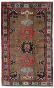 Hamadan Matta 121X191 Äkta Orientalisk Handknuten Mörkbrun/Svart (Ull, Persien/Iran)
