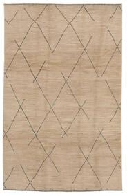 Moroccan Berber - Afghanistan Matta 192X297 Äkta Modern Handknuten Brun/Ljusbrun (Ull, Afghanistan)