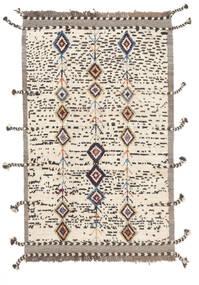 Moroccan Berber - Afghanistan Matta 112X183 Äkta Modern Handknuten Vit/Cremefärgad/Mörkbrun/Beige (Ull, Afghanistan)