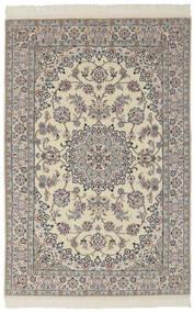 Nain 9La Matta 136X204 Äkta Orientalisk Handknuten Mörkgrå/Mörkbrun (Ull/Silke, Persien/Iran)
