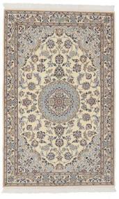 Nain 9La Matta 102X160 Äkta Orientalisk Handknuten Mörkgrå/Mörkbrun (Ull/Silke, Persien/Iran)