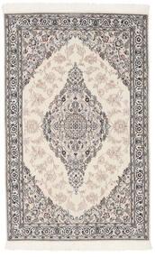 Nain 9La Matta 119X190 Äkta Orientalisk Handknuten Mörkgrå/Ljusgrå (Ull/Silke, Persien/Iran)