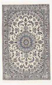 Nain 9La Matta 116X183 Äkta Orientalisk Handknuten Svart/Ljusgrå (Ull/Silke, Persien/Iran)