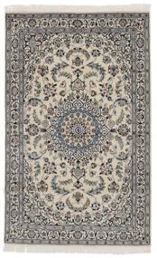 Nain 9La Matta 114X183 Äkta Orientalisk Handknuten Mörkgrå/Svart (Ull/Silke, Persien/Iran)