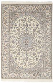 Nain 9La Matta 200X301 Äkta Orientalisk Handknuten Mörkgrå/Ljusgrå (Ull/Silke, Persien/Iran)