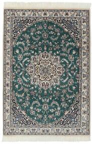 Nain 9La Matta 94X140 Äkta Orientalisk Handknuten Svart/Mörkgrå (Ull/Silke, Persien/Iran)