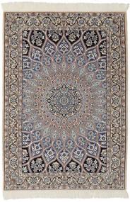 Nain 9La Matta 95X146 Äkta Orientalisk Handknuten Svart/Mörkbrun (Ull/Silke, Persien/Iran)