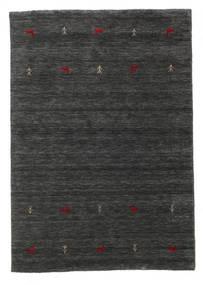 Gabbeh Loom Two Lines - Sekundär Matta 140X200 Modern Svart/Beige (Ull, Indien)