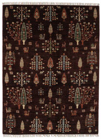 Shabargan Matta 176X236 Äkta Modern Handknuten Svart/Mörkbrun (Ull, Afghanistan)