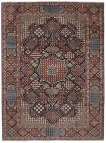 Najafabad Matta 302X405 Äkta Orientalisk Handknuten Mörkbrun/Svart Stor (Ull, Persien/Iran)