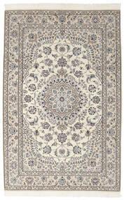 Nain 9La Matta 155X242 Äkta Orientalisk Handknuten Mörkgrå/Ljusgrå (Ull/Silke, Persien/Iran)