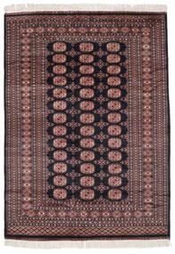 Pakistan Bokhara 3Ply Matta 155X212 Äkta Orientalisk Handknuten Svart/Mörkröd (Ull, Pakistan)