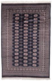 Pakistan Bokhara 2Ply Matta 160X242 Äkta Orientalisk Handknuten Svart/Mörkbrun (Ull, Pakistan)