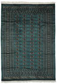 Pakistan Bokhara 2Ply Matta 180X255 Äkta Orientalisk Handknuten Svart/Mörkgrön (Ull, Pakistan)