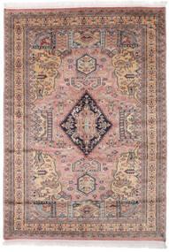 Pakistan Bokhara 2Ply Matta 138X196 Äkta Orientalisk Handknuten Mörkbrun/Mörkröd (Ull, Pakistan)