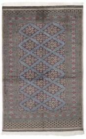 Pakistan Bokhara 2Ply Matta 122X190 Äkta Orientalisk Handknuten Svart/Mörkgrå (Ull, Pakistan)