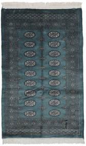 Pakistan Bokhara 3Ply Matta 104X164 Äkta Orientalisk Handknuten Svart/Mörk Turkos (Ull, Pakistan)