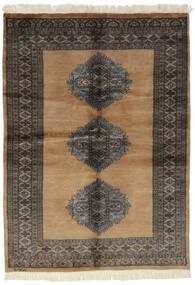 Pakistan Bokhara 3Ply Matta 130X178 Äkta Orientalisk Handknuten Svart/Brun (Ull, Pakistan)