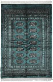 Pakistan Bokhara 3Ply Matta 124X178 Äkta Orientalisk Handknuten Svart/Mörk Turkos (Ull, Pakistan)