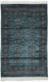 Pakistan Bokhara 2Ply Matta 105X166 Äkta Orientalisk Handknuten Svart (Ull, Pakistan)