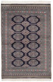 Pakistan Bokhara 2Ply Matta 130X189 Äkta Orientalisk Handknuten Svart/Mörklila (Ull, Pakistan)