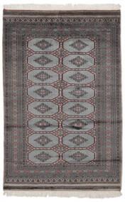 Pakistan Bokhara 2Ply Matta 122X188 Äkta Orientalisk Handknuten Svart (Ull, Pakistan)