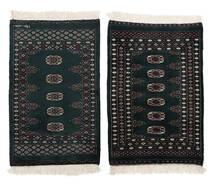 Pakistan Bokhara 3Ply Matta 60X97 Äkta Orientalisk Handknuten Svart/Vit/Cremefärgad (Ull, Pakistan)