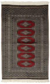 Pakistan Bokhara 2Ply Matta 88X140 Äkta Orientalisk Handknuten Svart/Mörkgrå (Ull, Pakistan)