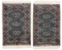 Pakistan Bokhara 3Ply Matta 63X92 Äkta Orientalisk Handknuten Svart/Mörkbrun (Ull, Pakistan)