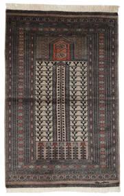 Pakistan Bokhara 2Ply Matta 95X150 Äkta Orientalisk Handknuten Svart/Mörkbrun (Ull, Pakistan)