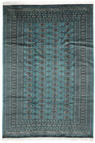 Pakistan Bokhara 2Ply Matta 183X264 Äkta Orientalisk Handknuten Mörk Turkos/Svart (Ull, Pakistan)