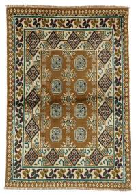 Afghan Matta 99X143 Äkta Orientalisk Handknuten Mörkbrun/Svart (Ull, Afghanistan)