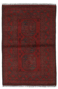 Afghan Matta 97X145 Äkta Orientalisk Handknuten Svart/Vit/Cremefärgad (Ull, Afghanistan)