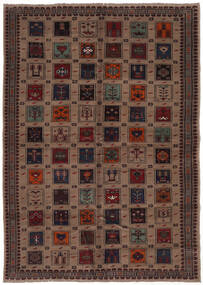 Beluch Matta 207X290 Äkta Orientalisk Handknuten Svart/Mörkbrun (Ull, Afghanistan)