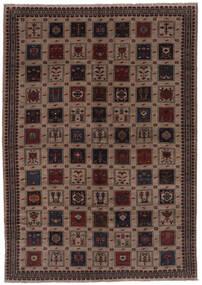Beluch Matta 212X305 Äkta Orientalisk Handknuten Svart/Mörkbrun (Ull, Afghanistan)