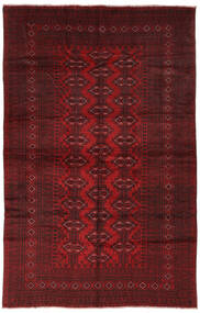 Beluch Matta 190X293 Äkta Orientalisk Handknuten Svart/Mörkröd (Ull, Afghanistan)