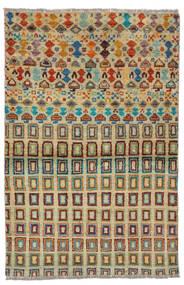 Moroccan Berber - Afghanistan Matta 92X142 Äkta Modern Handknuten Mörkgrön/Mörk Turkos (Ull, Afghanistan)