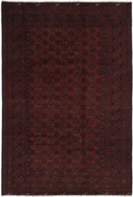 Afghan Matta 194X295 Äkta Orientalisk Handknuten Svart (Ull, Afghanistan)