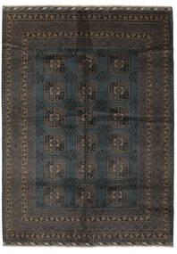 Afghan Matta 207X286 Äkta Orientalisk Handknuten Svart/Mörkbrun (Ull, Afghanistan)