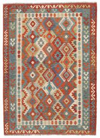 Kelim Afghan Old Style Matta 174X243 Äkta Orientalisk Handvävd Mörkbrun/Mörkröd (Ull, Afghanistan)