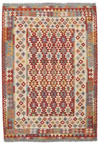 Kelim Afghan Old Style Matta 170X247 Äkta Orientalisk Handvävd Mörkbrun/Mörkröd (Ull, Afghanistan)